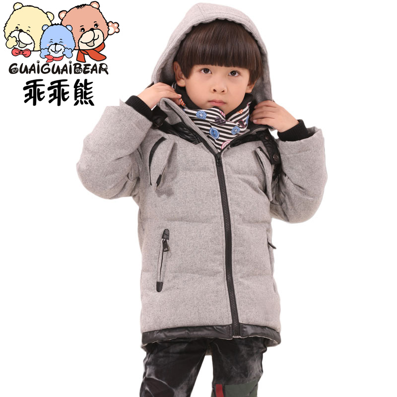 GUAIGUAI BEAR thick baby down jacket boy long coat  kids colthing Taobao Agents