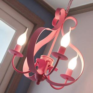 浪漫粉色吊灯