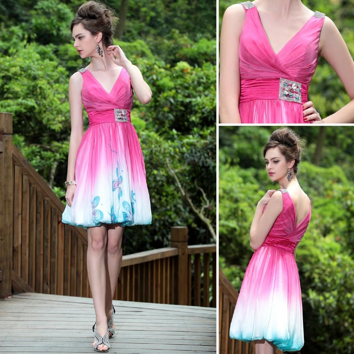 多丽琦82679短款礼服2012新娘结婚小礼服韩版双肩性感粉色小礼服
