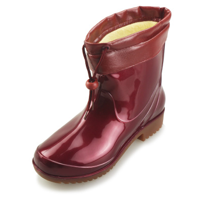 DOUBLE STAR / binary Women Pikou TH-216-3 rain boots warm shoes plus cotton intercropping cotton boots female models