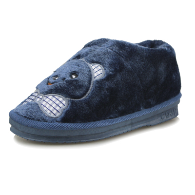 Double Star shoes authentic winter home cotton slippers men and women couple cartoon bear head Mianxie