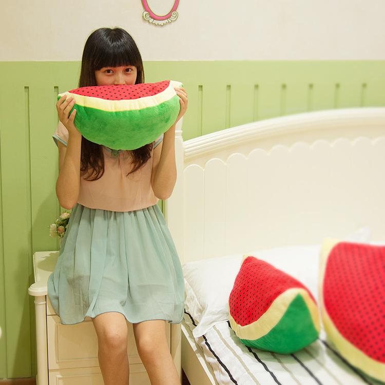 创意水果大西瓜毛绒玩具公仔超大号抱枕家居车载靠垫送女朋友礼物