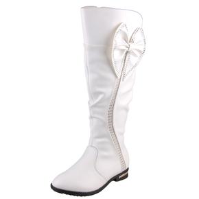 3865秋冬小叮当女童靴子真皮童鞋女儿童棉鞋 高筒靴 长筒靴雪地靴