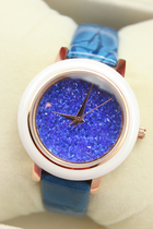 Tempérament coloré super flash crystal montre rétro