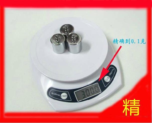 Весы электронные Аутентичные кухня кухня шкала измерения масштаб платформы масштаба точность 1 килограмм / 0,1 г/7 килограмм 1 грамм