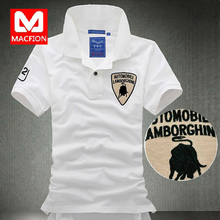 Lamborghini retro big yards iron compassionate tide men's clothing men's short-sleeved T-shirt Slim Korean version bottoming shirt