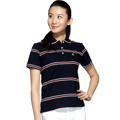 Women's short sleeve / simple beauty anti-UV striped T-shirt golf apparel Paradigm golfree