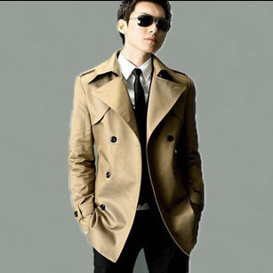 2013 spring new Korean leisure wild slim trench coat trench coat thin male in spring and autumn the coat counter authentic