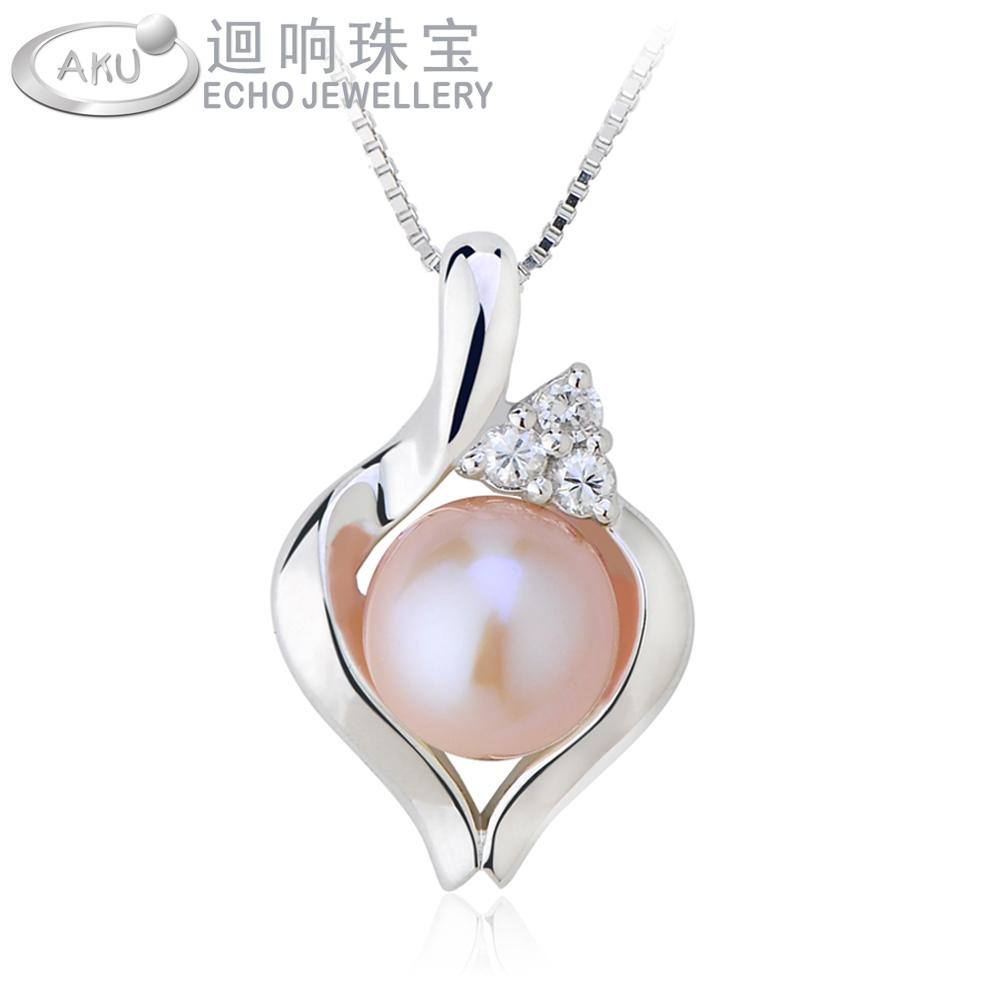 天然珍珠吊坠 925纯银项链女 韩版短款锁骨链时尚银饰品 韩国首饰
