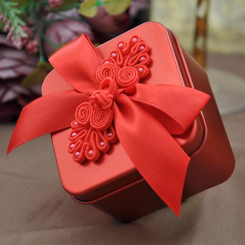 2013婚庆用品喜糖盒子 中韩欧式创意糖果盒礼品盒马口铁盒配件T37