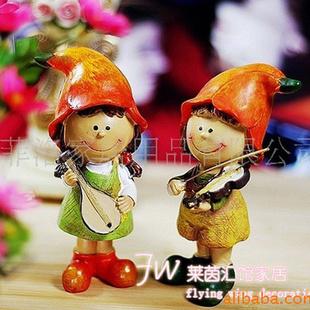 Оригинальный подарок Пастырское музыкальный подарок любителям орнаменты смолы кукла украшение украшения бизнес подарки живопись