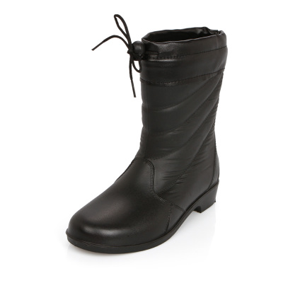 Style rain boots warm boots with non-slip velvet Korean fashion ladies rain boots plus cotton velvet boots