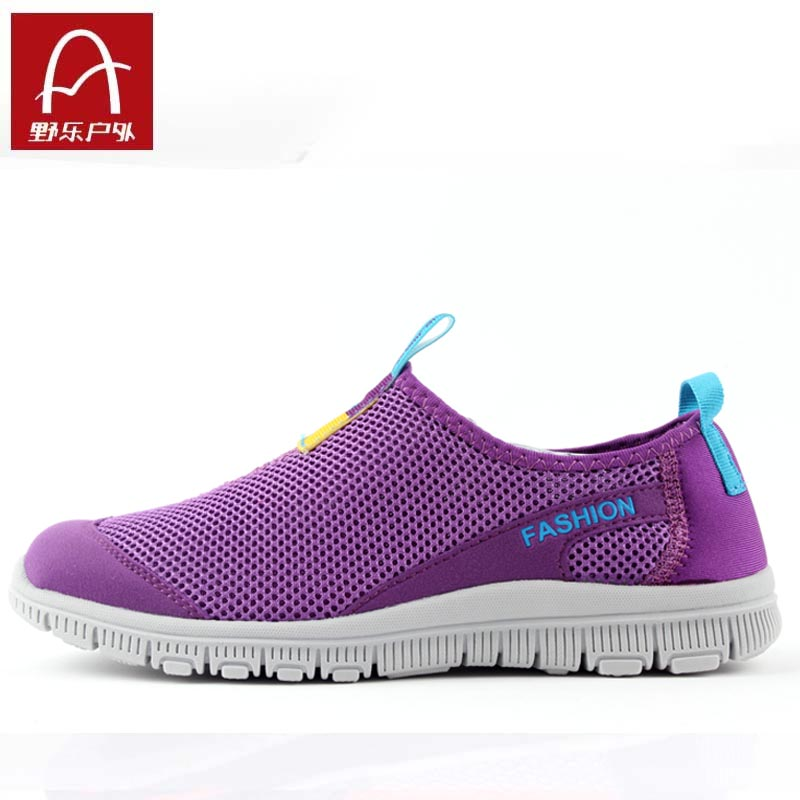 Wild summer 2013 breathable mesh walking shoes women's authentic outdoor light hiking shoes non-slip shoes shoes NET shoes