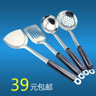 JR Stainless steel kitchen appliances, kitchen supplies Cooking Set colander new spatula soup dish rack can be rotated