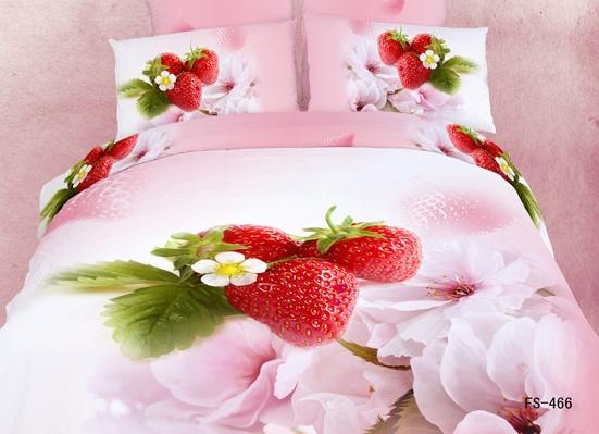 博洋家纺正品四件套全棉活性印花3D四件套婚庆四件套床上用品专柜
