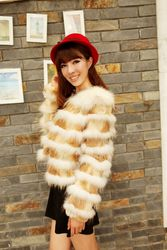 Fox rabbit fur coat short style