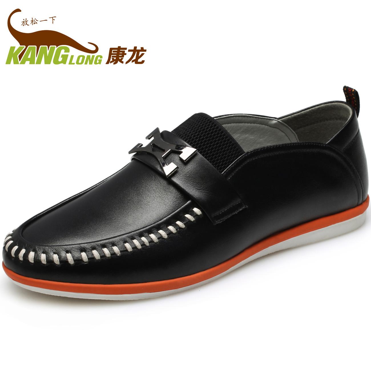 正品 奥康旗下品牌康龙2013新品休闲单鞋 纳帕纹 时尚