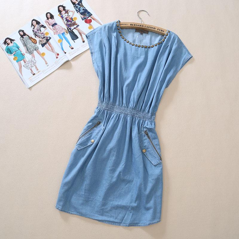 Женское платье 2013 2013 года Джинсы