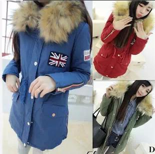 Женская утепленная куртка Осень/Зима 2013 Южная Корея супер плюшевой Кинг стрит вышивка наклейки, общий теплый мягкий a122