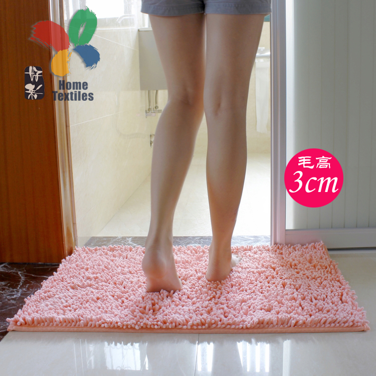 Lucky bathroom water-absorbing feet at the door mat door mat chenille rug mat bathroom anti-slip mat bag-mail