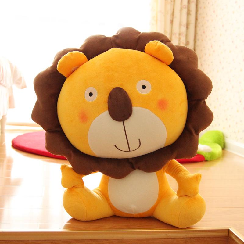 包邮 雷欧狮子王毛绒玩具公仔 可爱狮子座布娃娃玩偶生日礼物 女