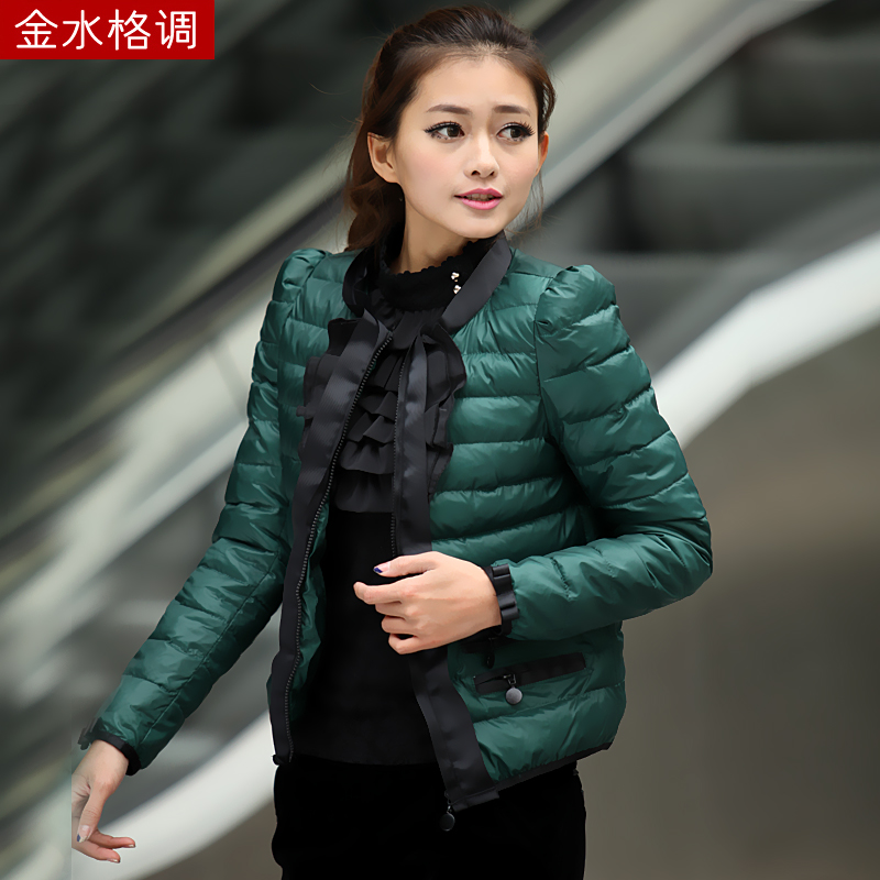Golden style winter clothing new Korean new women's slim coat of down comforters, cotton short thick coat women