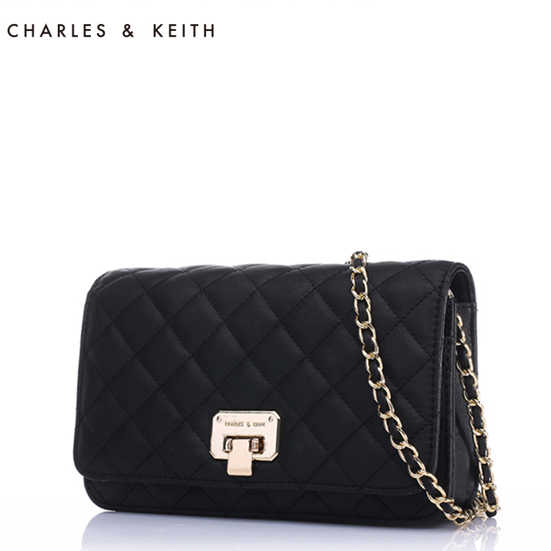 [Selling] Charles & amp; amp; Keith lozenge chain bag ladies shoulder bag Messenger CK2-70700005