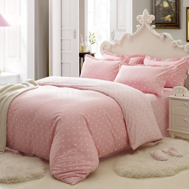 纯棉家纺 床品四件套 全棉床单四件套 1.8床上用品 公主婚庆被套