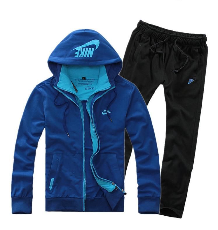 Спортивный костюм Nike 015 Для мужчин Длинные рукава (рукава ≧ 58см) Воротник с капюшоном Брюки ( длинные ) Для спорта и отдыха Логотип бренда