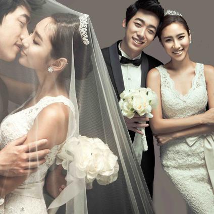 韩式韩版公主新娘复古修身露背鱼尾拖尾婚纱礼服2013最新款 963