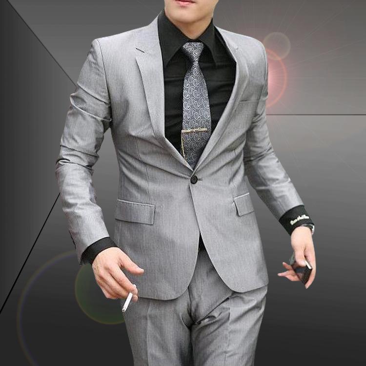 秋季热卖男士西装 韩版修身西服套装 新郎伴郎婚庆礼服 商务休闲