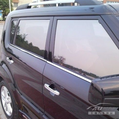 Show Seoul Kia SOUL special window trim bright Xiuer special stainless steel window trim modification of Seoul