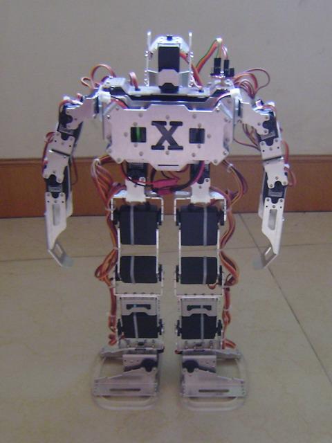 双冠 铝合金架17自由度双足机器人,人形机器人,步行机器人