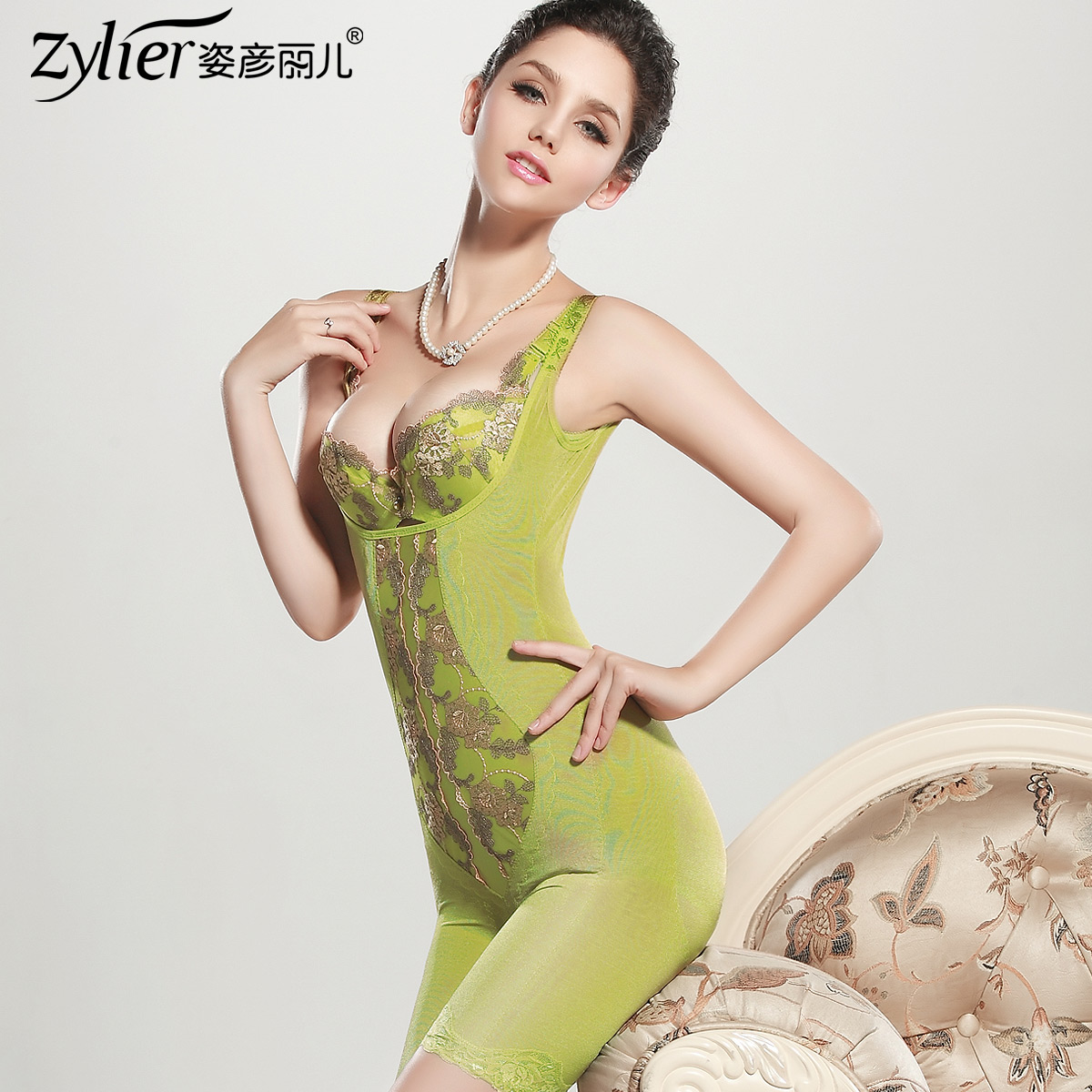 Coating thin plastic body with no trace attitude Yanli and joined in summer your postpartum abdominal slimming Shushen clothing suits beauty body clothes 130