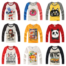 2013 new Korean version of spring models of child boys and girls long-sleeved T-shirt baby cotton long-sleeved T-shirt bottoming shirt