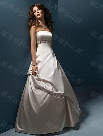 婚纱礼服2013最新款 甜美公主抹胸婚纱 韩版冬季齐地婚纱