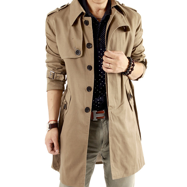 2013 spring clothing genuine men s trench coat-cultivating 0918 jiekesi shield jacket male men's clothing and fertilizer to increase code