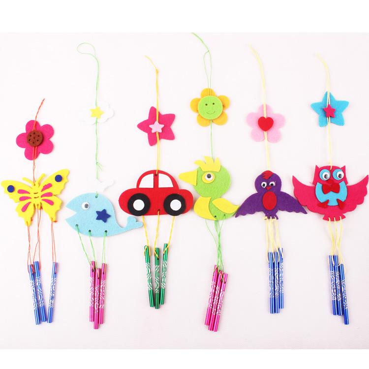 布藝風鈴 兒童不織布粘貼畫掛飾 房間裝飾 diy幼兒園手工玩具10g圖片