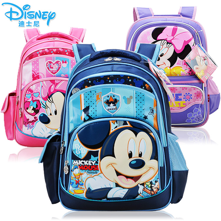 [Children 's] authentic backpack Disney Mickey Minnie men and women students ' schoolbags children's relief Pack