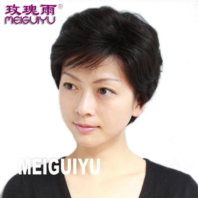 Rose rain elderly mother fluffy wig short hair female short hair wig wig Ms. jiafa Specials