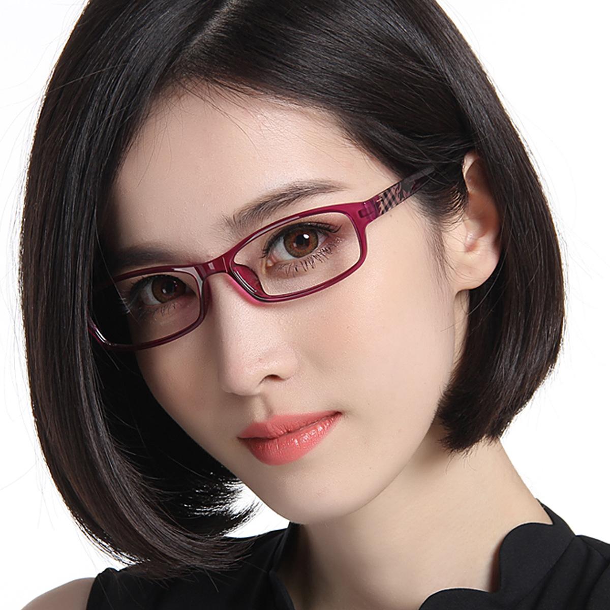 眼镜框近视女款 近视眼镜女 大脸配眼镜 优雅眼镜架框架眼镜包邮