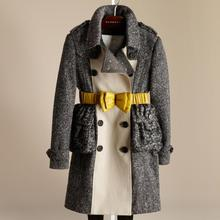 Hong Kong Shopping Burberry Burberry trench coat winter new children's clothing cotton tweed daughter 38448401