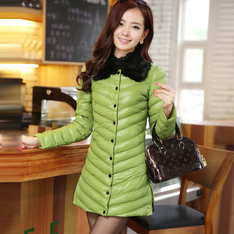 Женская утепленная куртка Слой женщина куртки зимние пальто в корейской версии новых корейских женщин долго Би-2013 плюс размер пальто Мягкий Хлопок одежда
