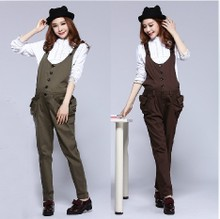 ZY ~ M51 maternity overalls fall pregnant women pregnant women jumpsuit with high elastic cotton