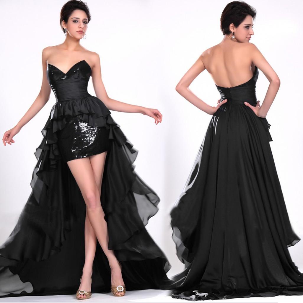 Вечерние платья 2013 новые короткие до после до после длинной стороны вечернее платье короткая длина окончания партии тема платье костюм