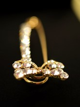 Stylish and elegant and lovely diamond bow pin brooch