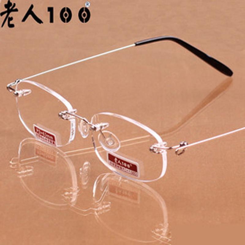 Очки для чтения Ультра легкий контрафакцией подлинной high-end престарелых 100 анти-усталости ультра-легкие ОПРАВЫ чтения очки памяти смола высокой четкости
