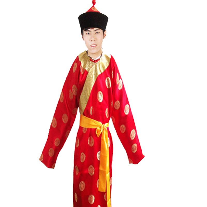 Национальный костюм Танец дракона и лев танец барабан одежду Китайская одежда тесть евнух свадьба предъявителя костюм костюм