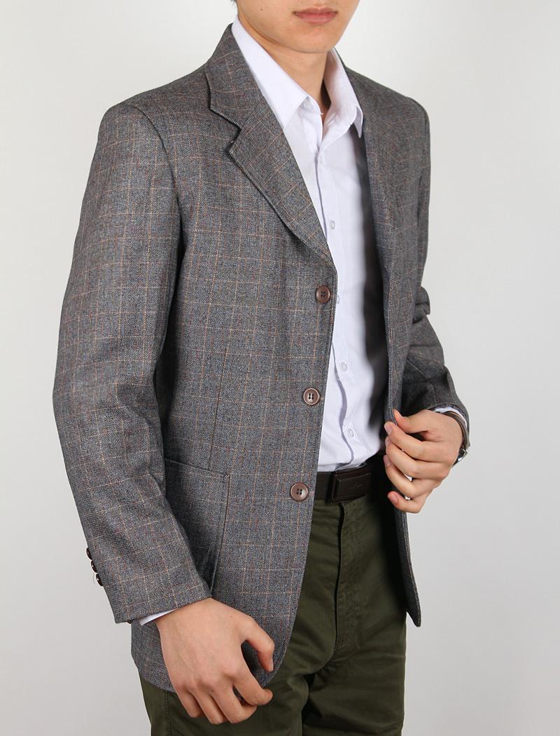 春秋男装单件西服 装中老年男士商务休闲西服单男式免烫外套上衣