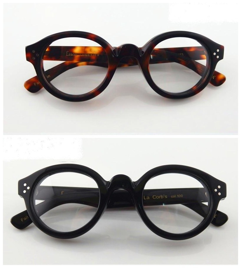 Lesca LUNETIER Mod.Phil plate retro round glasses frame ...